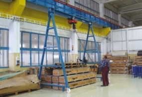 Movable gantry cranes